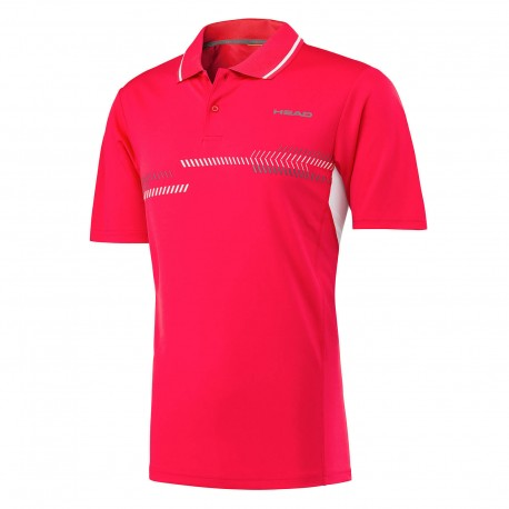 HEAD TECHNICAL POLO ROJO